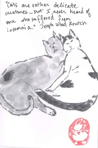 Moomin and Joxter and Insomnia etegami