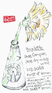 CampariSodaBottle.GerberDaisy.BicycletteRecipe