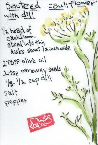 Cauliflower.DillCarawaySeeds.Recipe.26May2014