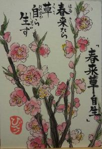 pinkflowers.ChinesePoem.Hideko.May2014