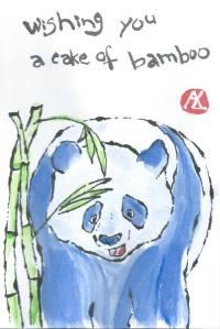 Happy Birthday Blue Panda etegami