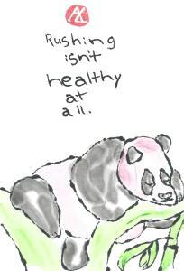 panda.RushingIsntHealthyAtAll.PINK.04-01-2015